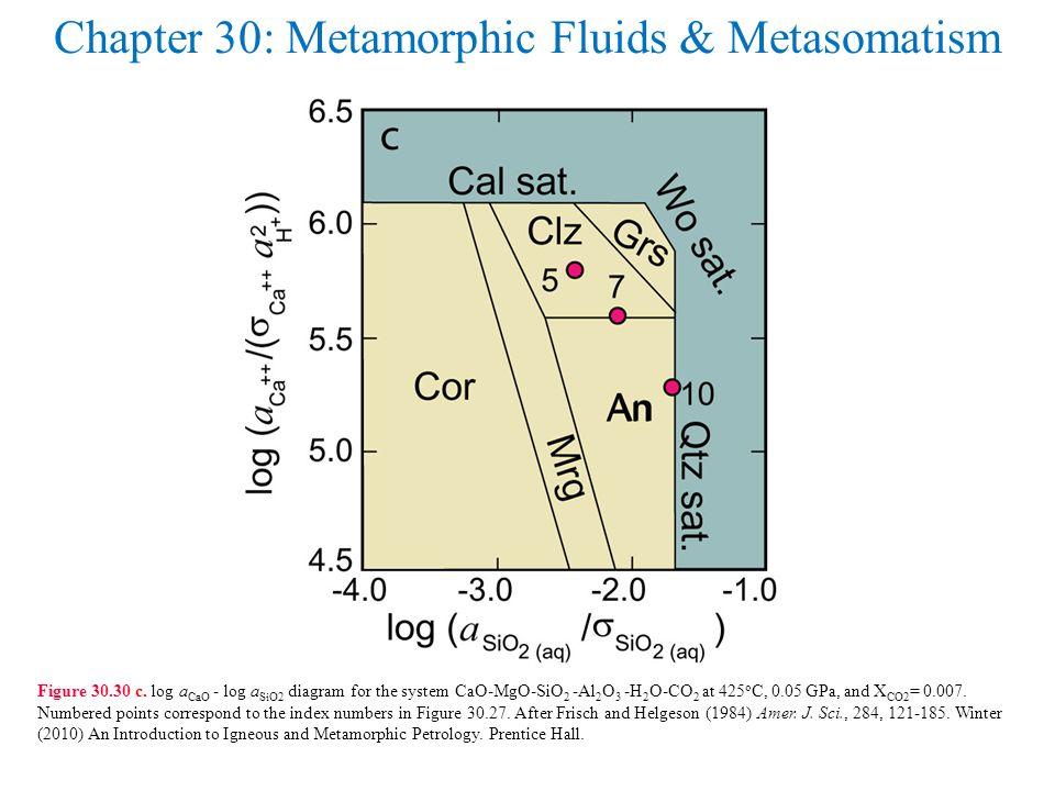 Chapter 30: Metamorphic Fluids & Metasomatism Figure 30.30 c.