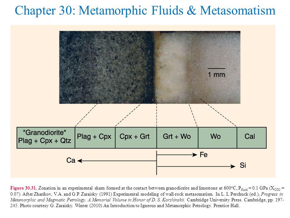 Chapter 30: Metamorphic Fluids & Metasomatism Figure 30.31.
