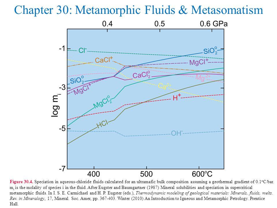 Chapter 30: Metamorphic Fluids & Metasomatism Figure 30.4.