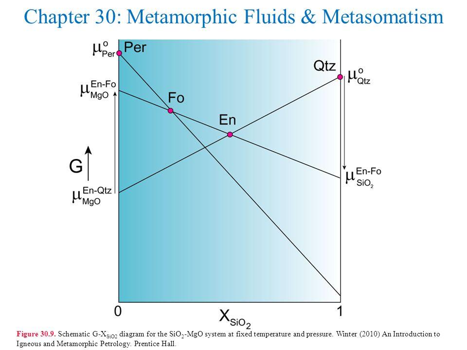 Chapter 30: Metamorphic Fluids & Metasomatism Figure 30.9.