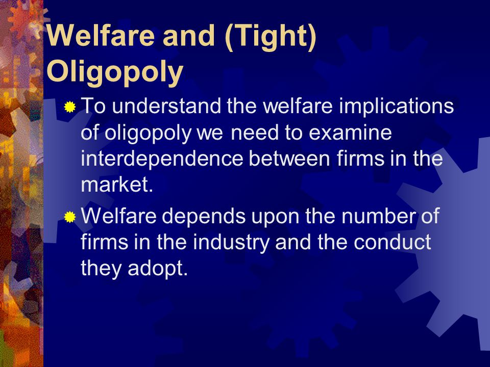 Unequal sized firms and Firm market Power  Extending this idea to oligopoly where firms have unequal market shares, the market power of firm i is  P – c i = S i  P e  P – Ci = H  P e In Cournot oligopoly each firm is assumed as acting independently and fails to understand what the other is doing.