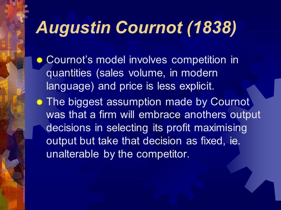 The Dominant Firm - Quantity Leadership Heinrich von Stackelberg (1934)  Stackelberg's duopoly model assumed that one firm acts as a dominant firm in setting quantities.
