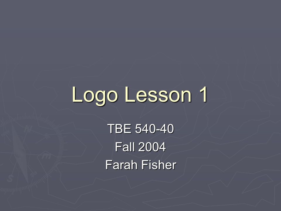 Self-Check for Lesson 1  Suppose you type these three Logo commands:  SETBG 0 SETPC 0 FD 100  What will you see on the screen?