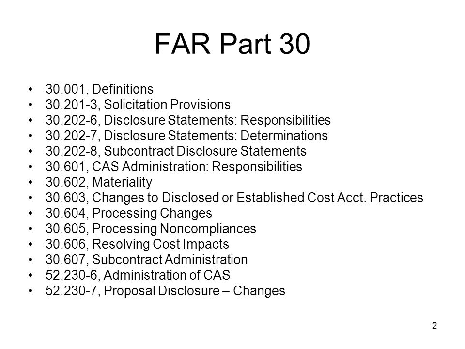93 52.230-6(b), Proposal Submission When the change is dependent on a contract award and that contract is subsequently awarded, notify the CFAO within 15 days after such award.