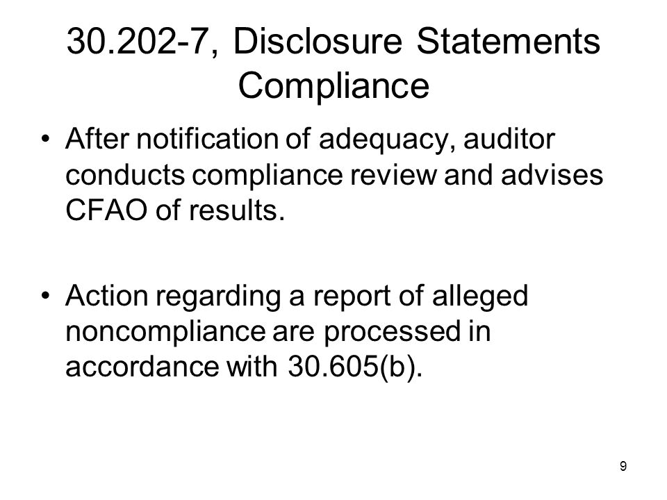 110 52.230-6(h), DCI Proposal Noncompliances Calculate cost impact in accordance with paragraph (i) of the clause.