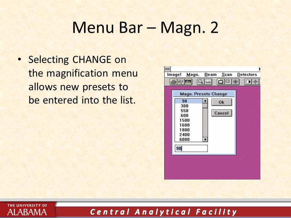 Menu Bar – Magn.