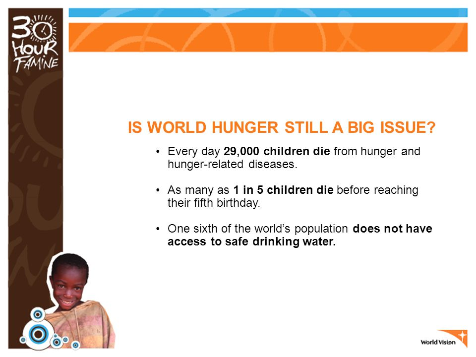 IS WORLD HUNGER STILL A BIG ISSUE.