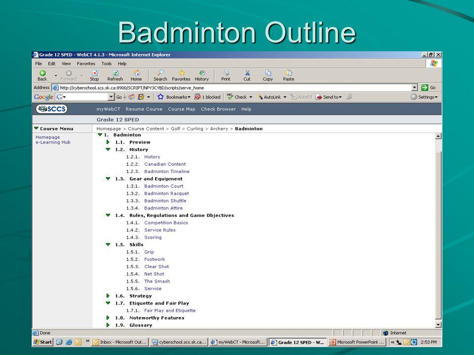 Badminton Outline