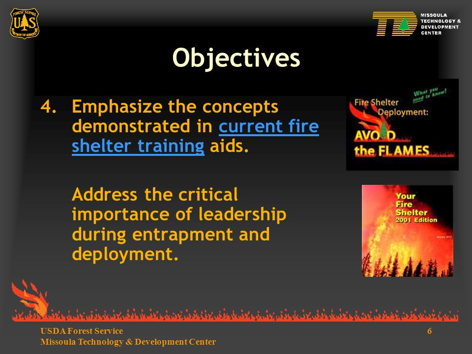 7USDA Forest Service Missoula Technology & Development Center Introduction  Many direct and indirect influences led to the entrapment and fatalities on the Thirtymile Fire.