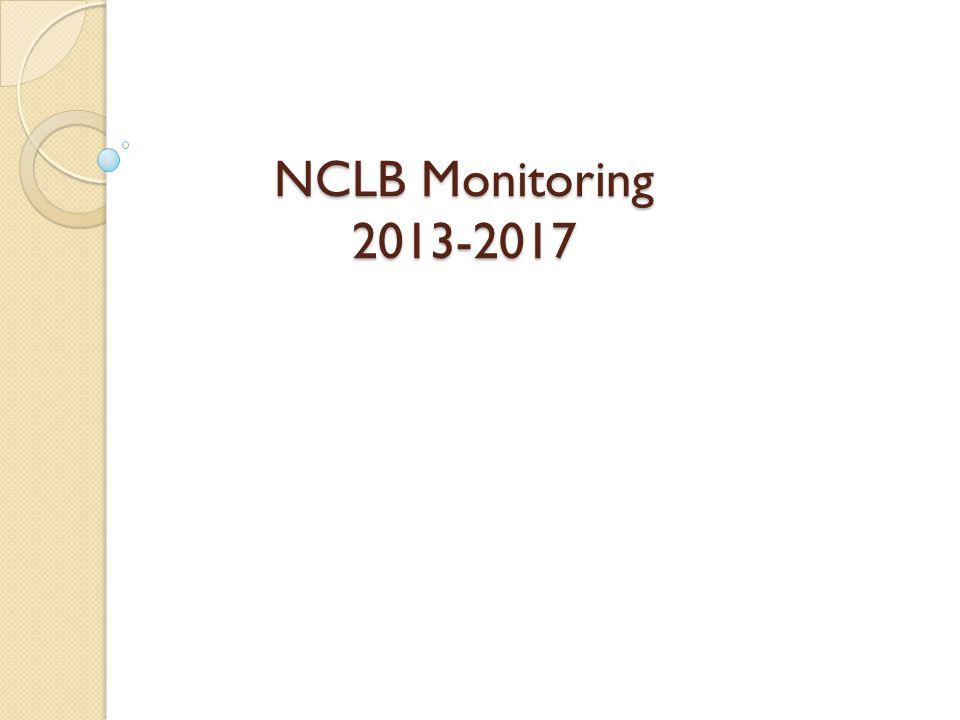 NCLB Monitoring 2013-2017