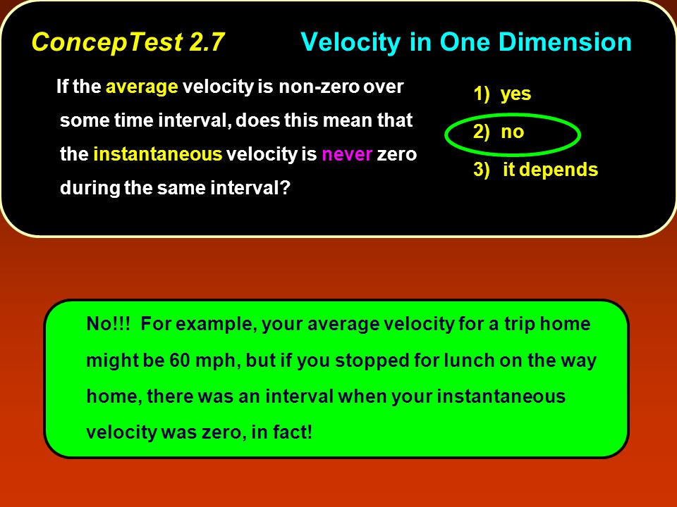 ConcepTest 2.8aAcceleration I constantvelocity zeroacceleration Sure it can.