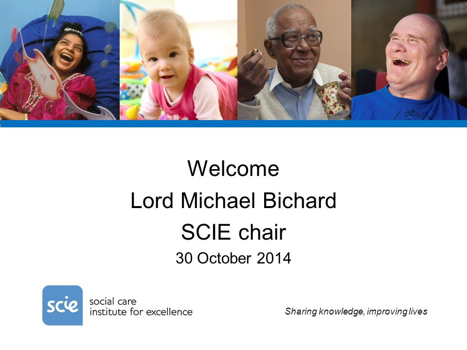 Sharing knowledge, improving lives June Sadd User Consultant and Member, SCIE Co-production Network 30 October 2014