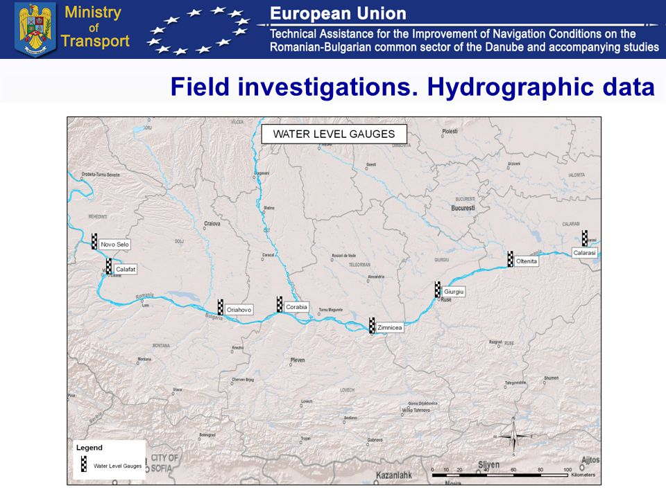 Workshop. ISPA 2 project Budapest, January 29-30, 2009 4 Field investigations. Hydrographic data