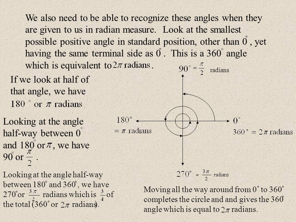 We can count the quadrantal angles in terms of.