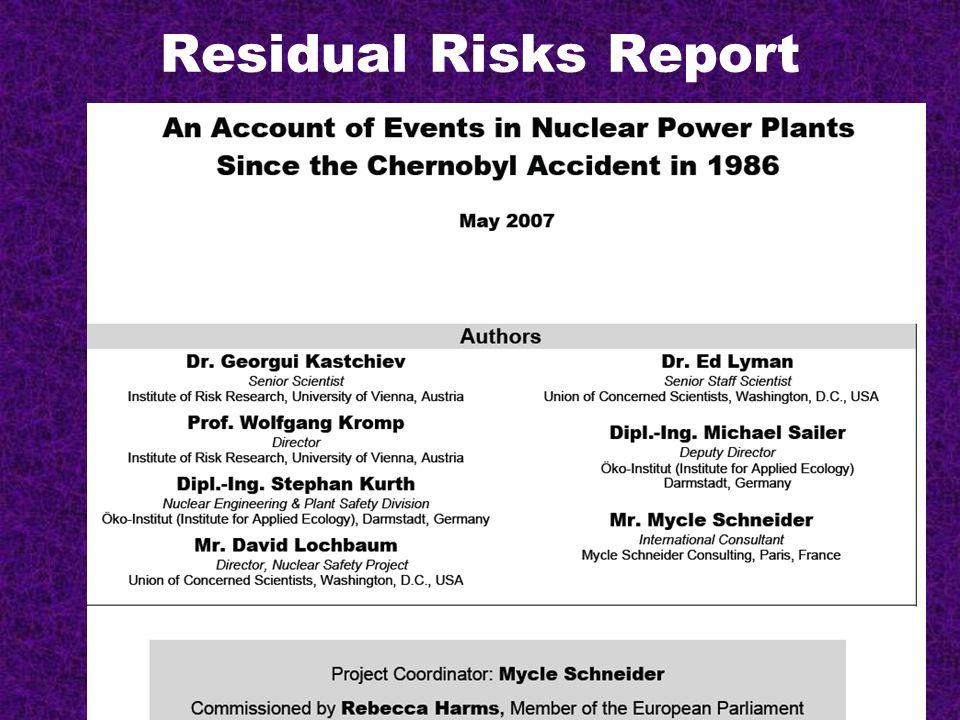 Residual Risks Report