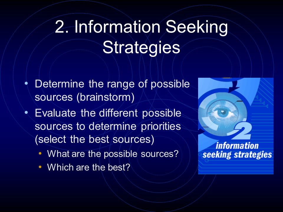 2.Information Seeking Strategies (Example) Where can I find information about Poseidon.
