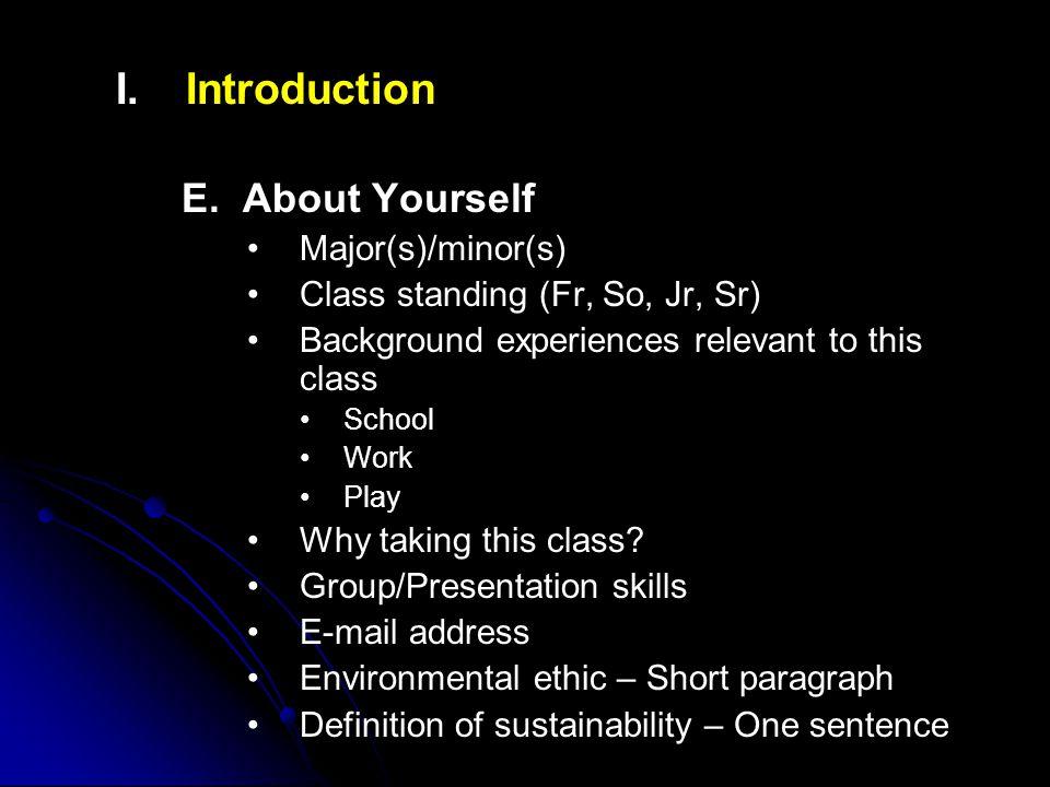I. I.Introduction E.