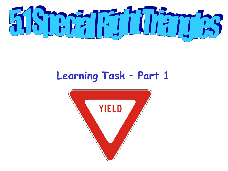 Learning Task – Part 1