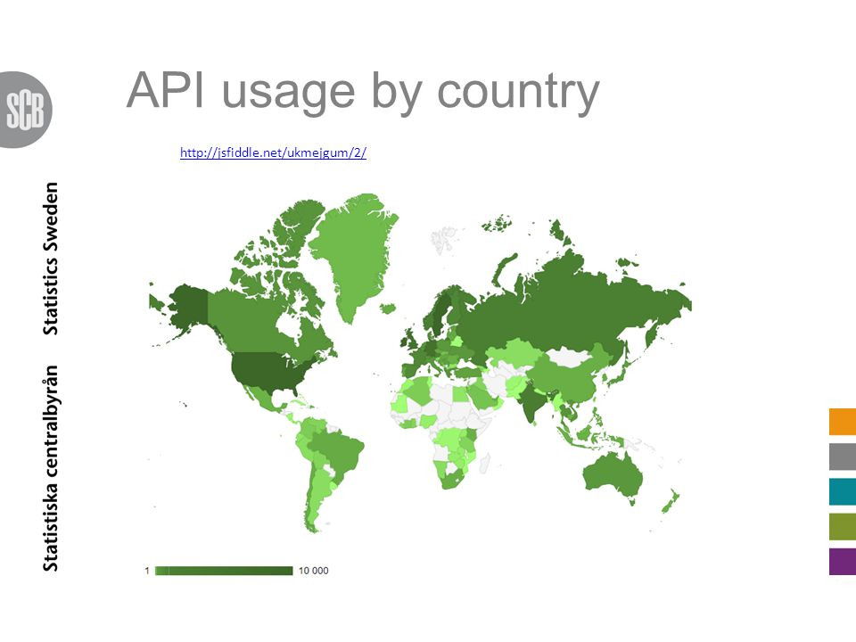 API usage by country http://jsfiddle.net/ukmejgum/2/