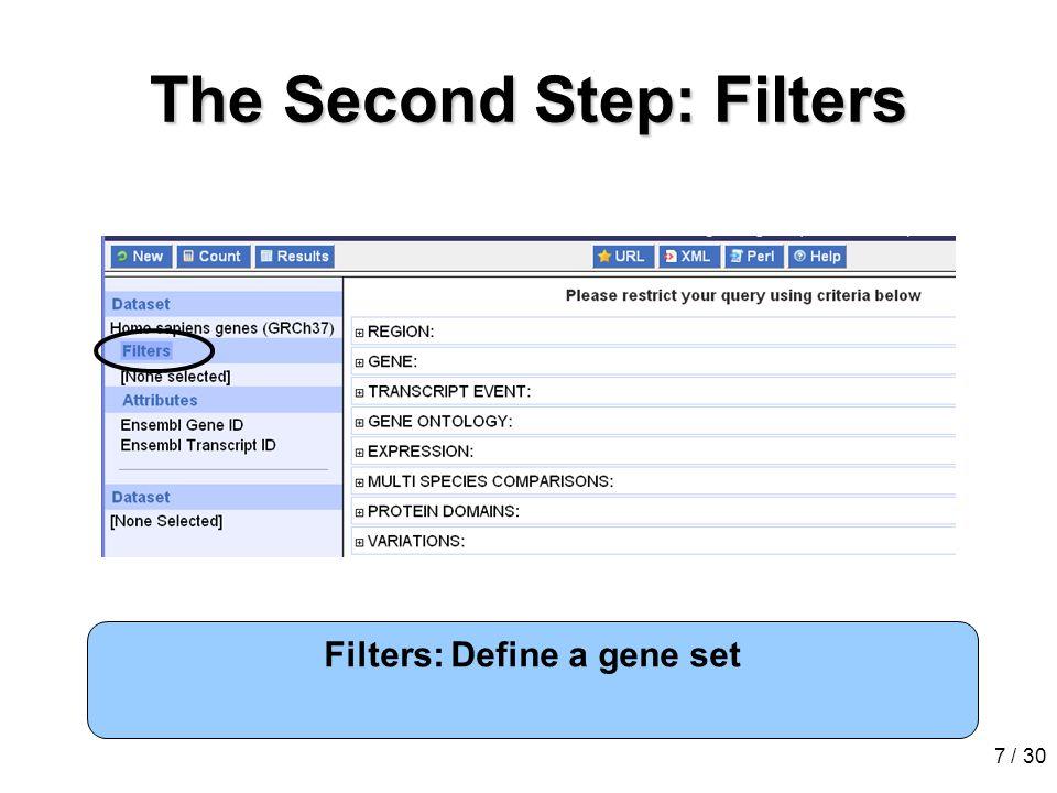 8 / 30 Attributes attach information Attributes: Determine output columns