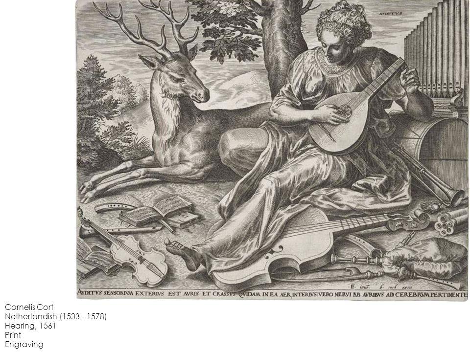 Cornelis Cort Netherlandish (1533 - 1578) Hearing, 1561 Print Engraving