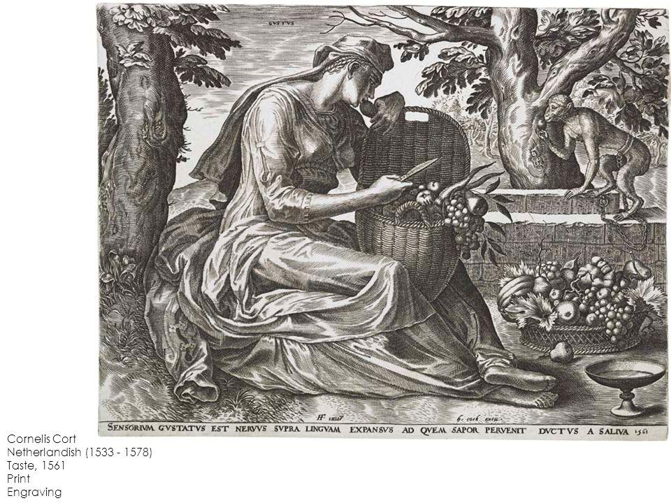 Cornelis Cort Netherlandish (1533 - 1578) Taste, 1561 Print Engraving