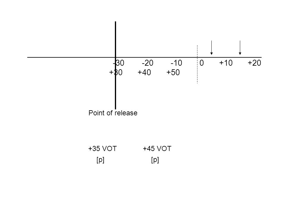 Kuhl & Miller, 1976 Found that Chinchilla's also have a +30ms boundary…