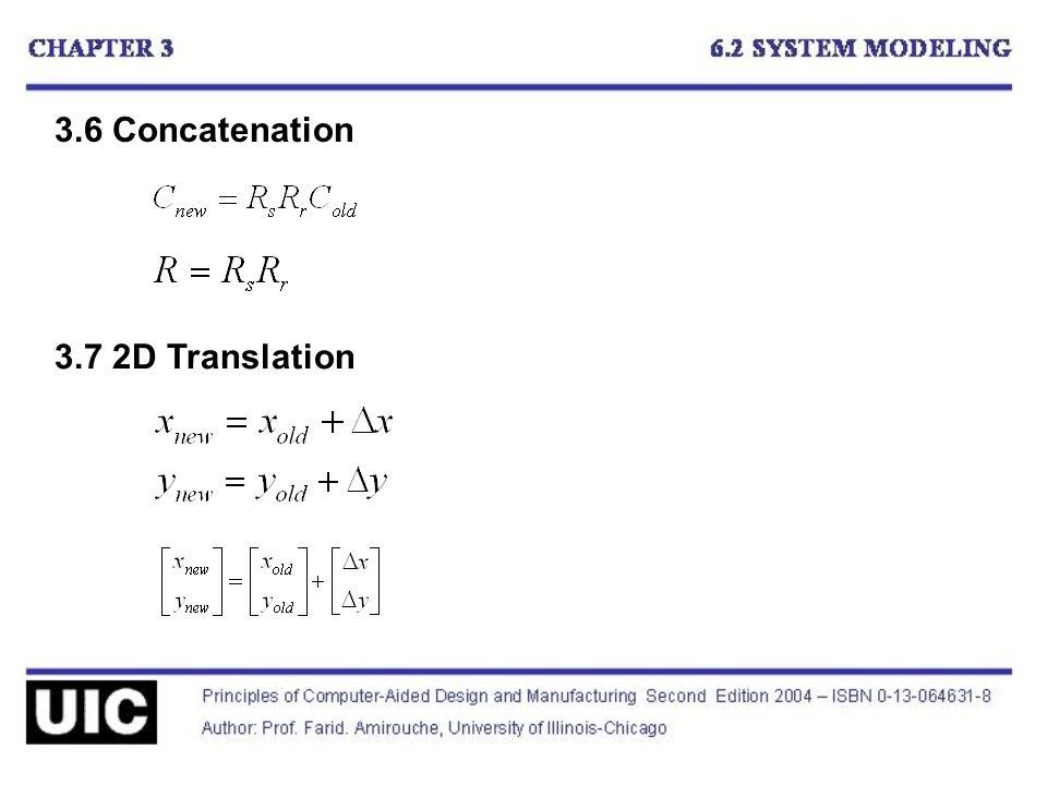 3.6 Concatenation 3.7 2D Translation