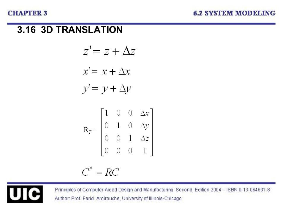 3.16 3D TRANSLATION R T =
