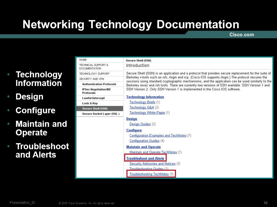 17 © 2006 Cisco Systems, Inc. All rights reserved.