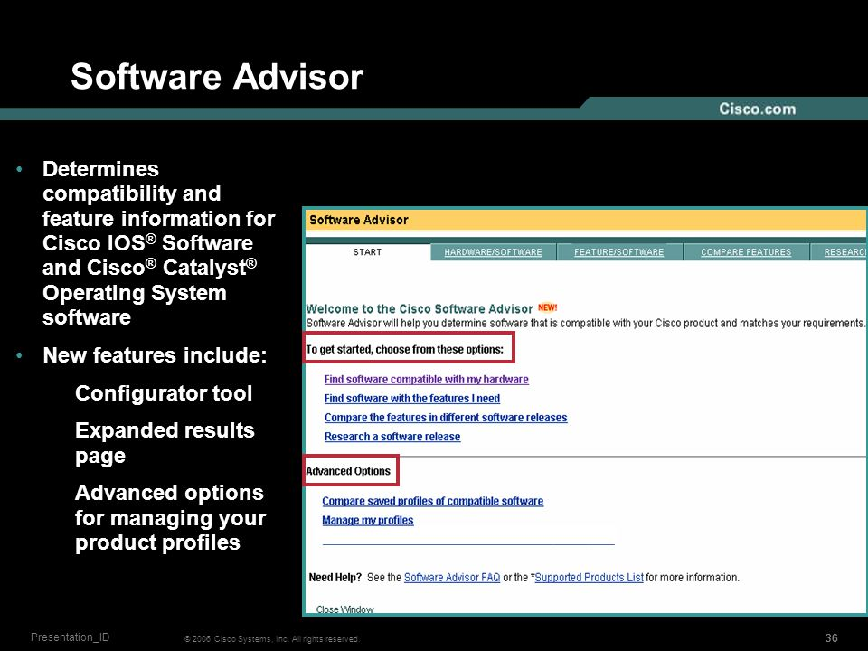 35 © 2006 Cisco Systems, Inc. All rights reserved.