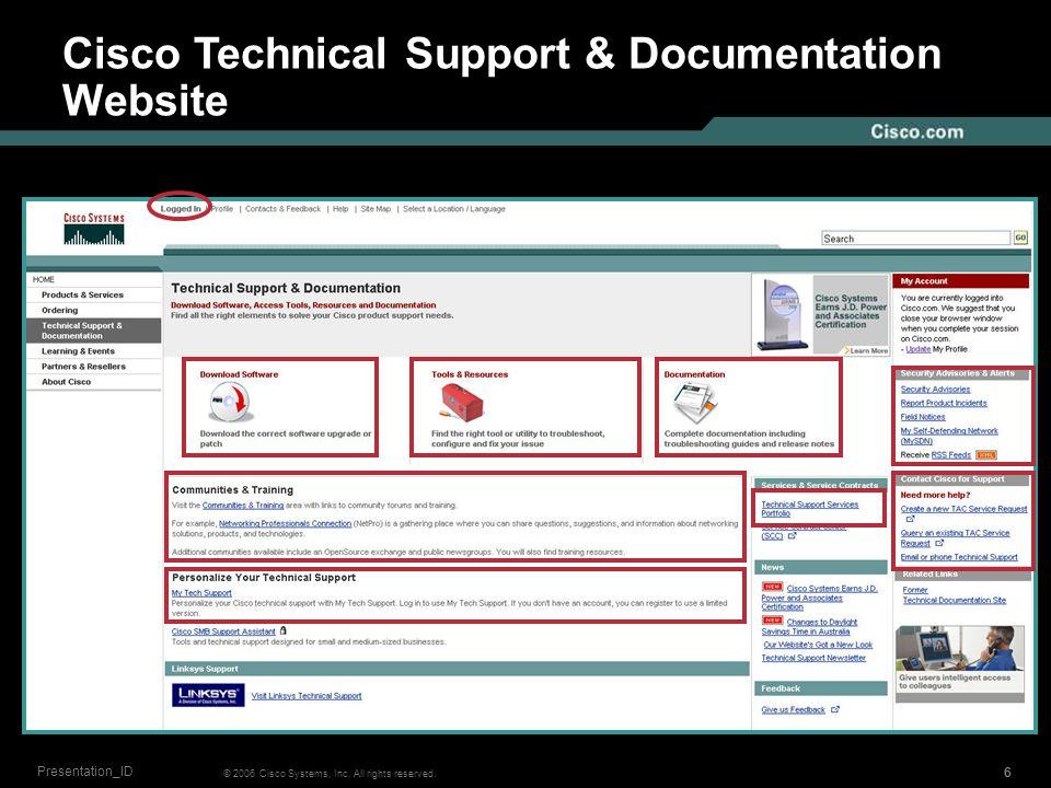 555 © 2006 Cisco Systems, Inc. All rights reserved. Presentation_ID Cisco.com Website