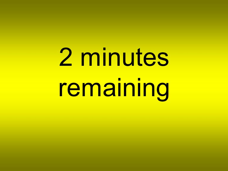 3 minutes remaining