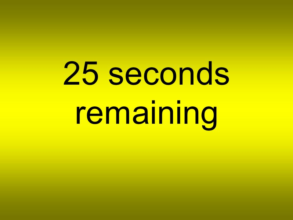30 seconds remaining