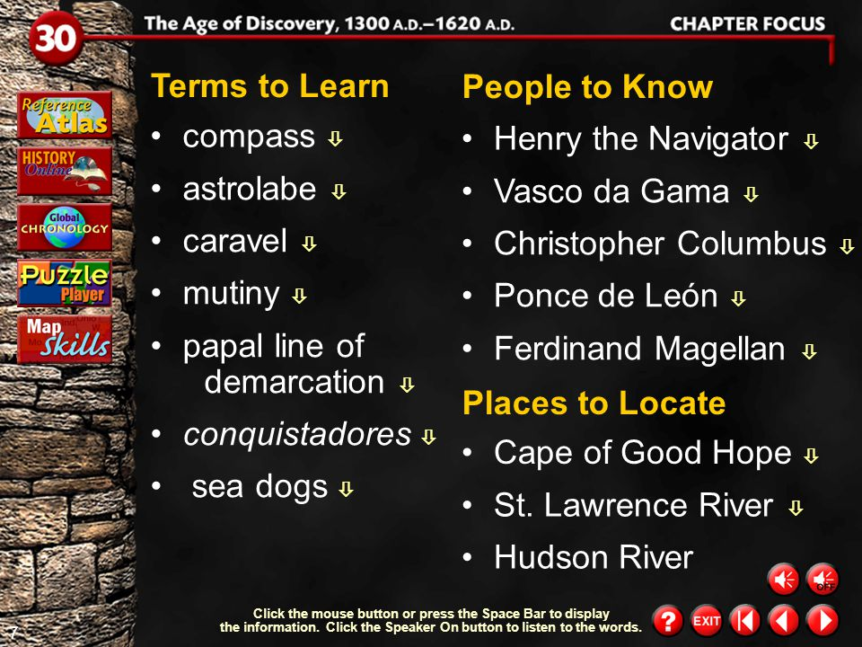 47 Chapter Summary 4 Chapter Summary & Study Guide (cont.) Early English, French, and Dutch voyages paved the way for future claims in North America.