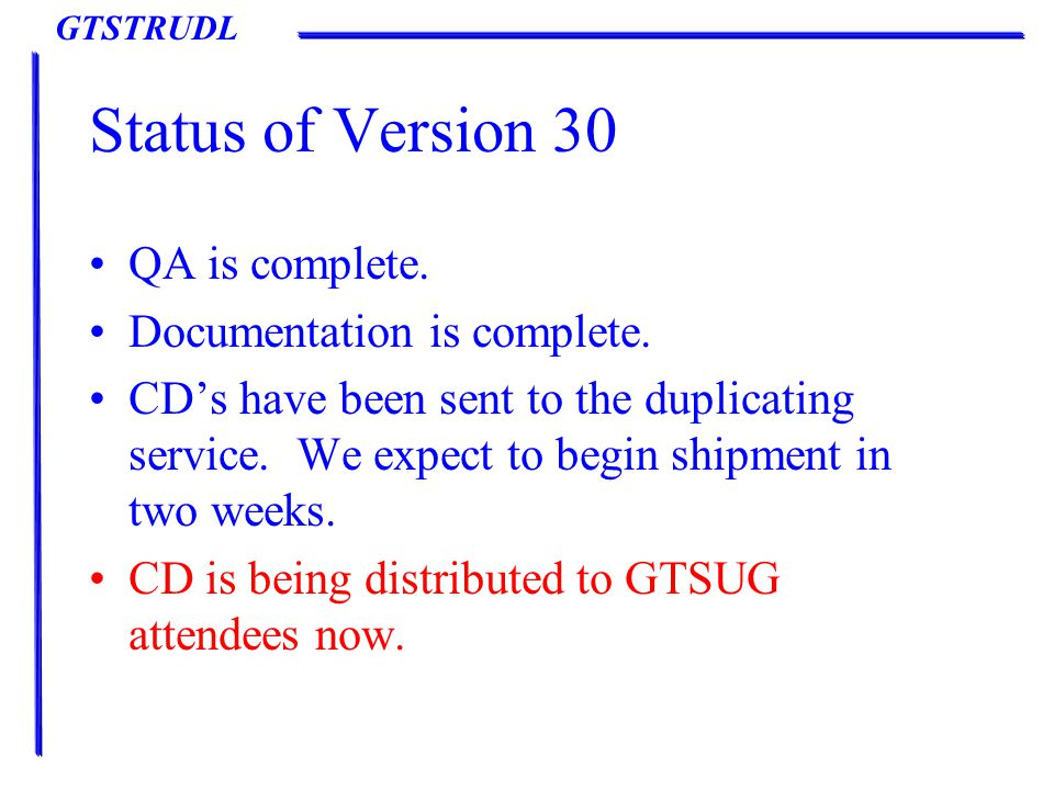 GTSTRUDL Version 31 New Features – Steel Design Steel Design Dialogs Parameter Dialog – Add new Torsion and Warping parameters to parameter dialog.