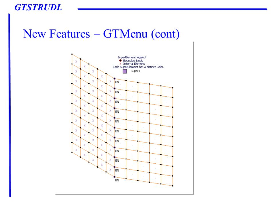 GTSTRUDL New Features – GTMenu (cont)