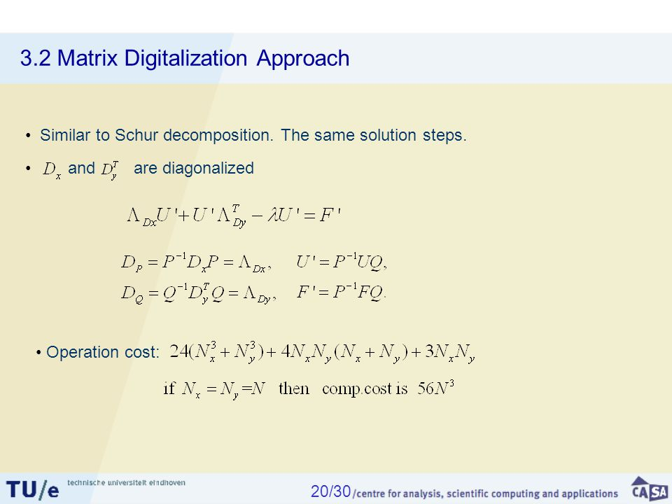 3.2 Matrix Digitalization Approach Similar to Schur decomposition.