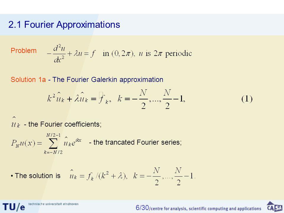 2.5 Galerkin Approximation Solution: Legendre Galerkin approx.