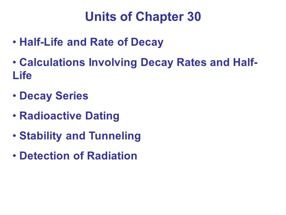 30.5 Beta Decay Beta decay occurs when a nucleus emits an electron.