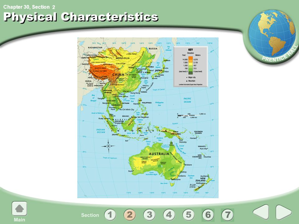 Chapter 30, Section 2 Physical Characteristics