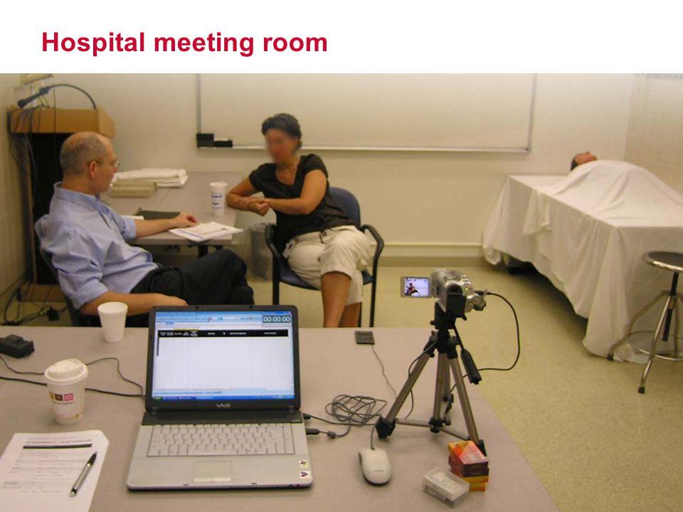 Hospital meeting room