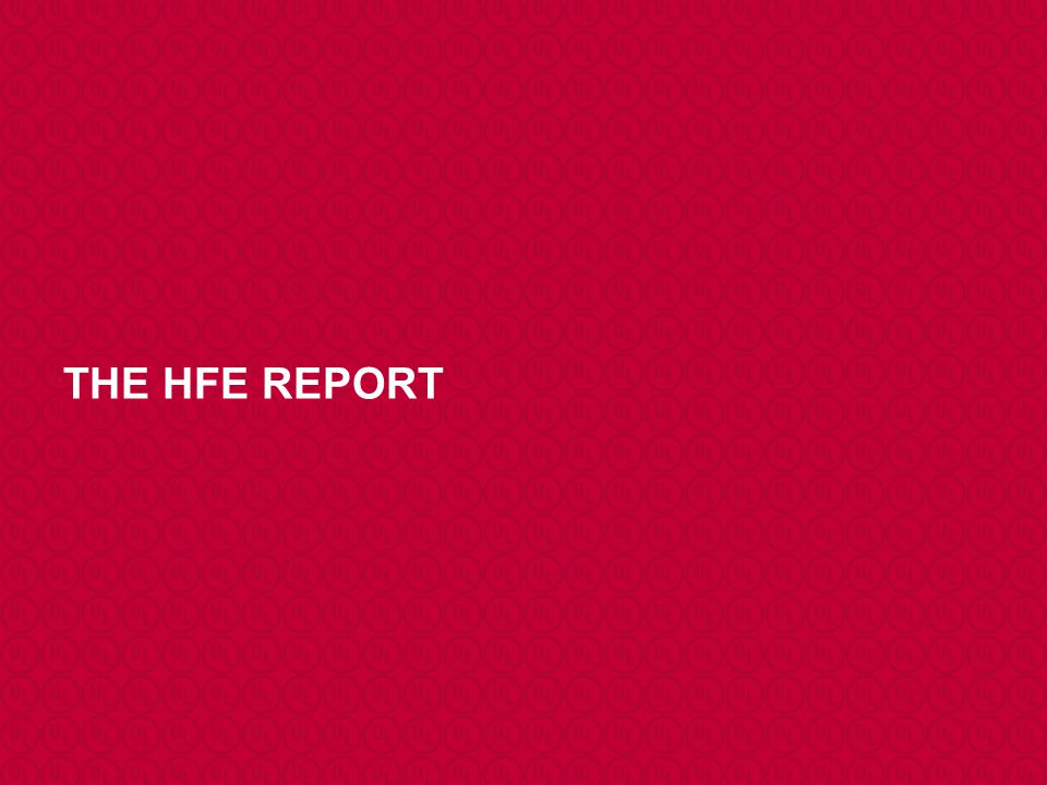 THE HFE REPORT