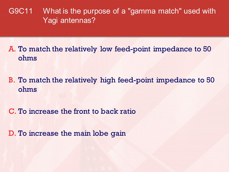 G9C11 What is the purpose of a