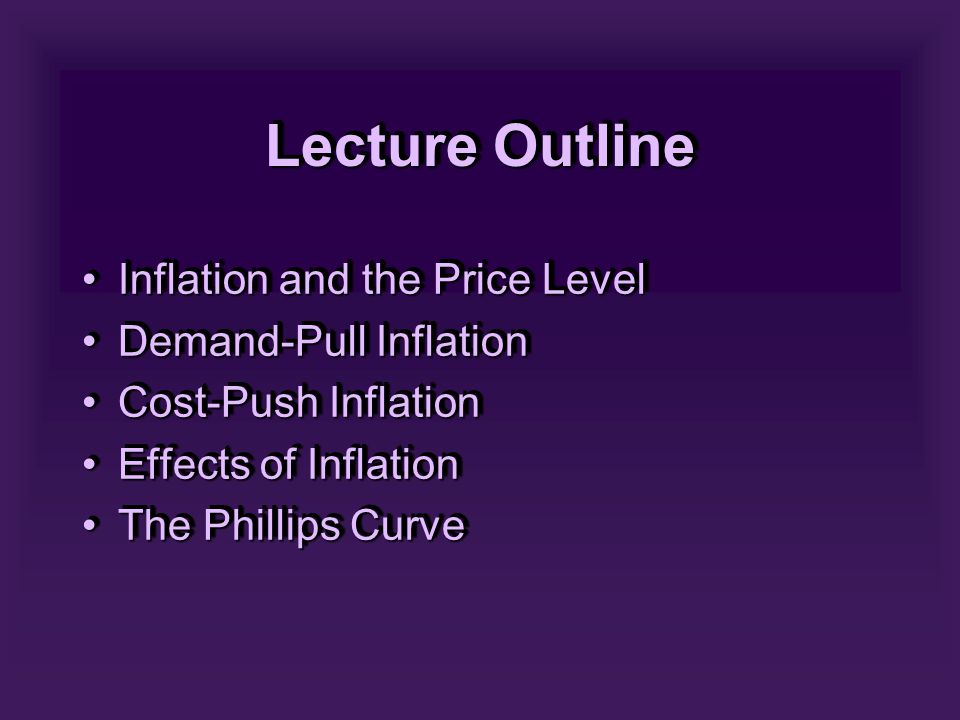 SUPPLY SHOCKS & THE PHILLIPS CURVE - 2