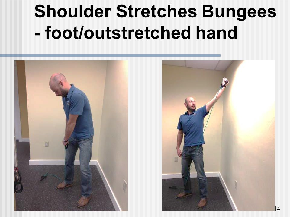 Shoulder Stretches Bungees - foot/outstretched hand 14