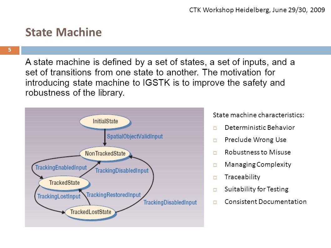 CTK Workshop Heidelberg, June 29/30, 2009 6 Image courtesy of Kevin Gary, Arizona State University State Machine Visualization and Validation