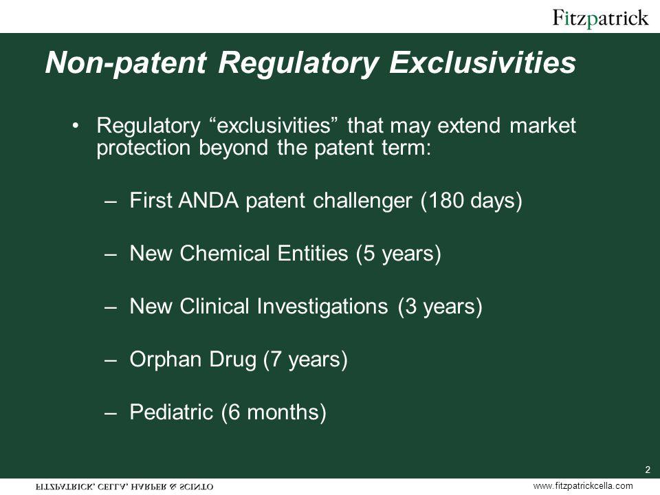 www.fitzpatrickcella.com 43 505(b)(2) NDAs An end run around statutory sameness concept for borrowing safety and efficacy.