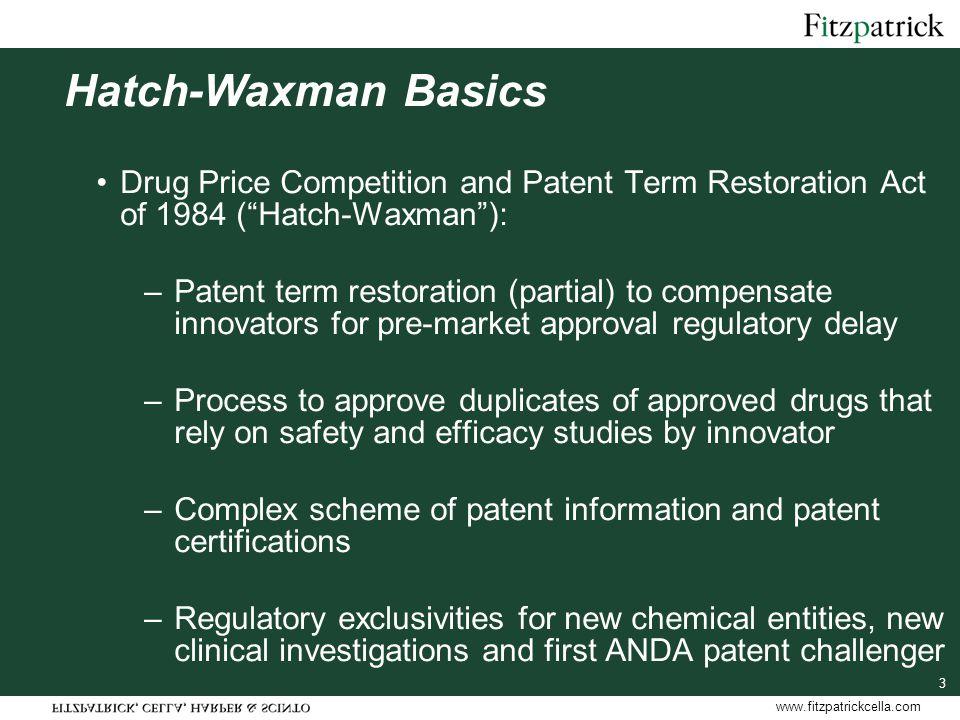 www.fitzpatrickcella.com 44 Follow-on Biologics No abbreviated procedure for BLAs FDA Draft Guidance allows 505(b)(2) NDAs for generic biologics that are regulated as drugs, e.g., human insulin, human growth hormone.