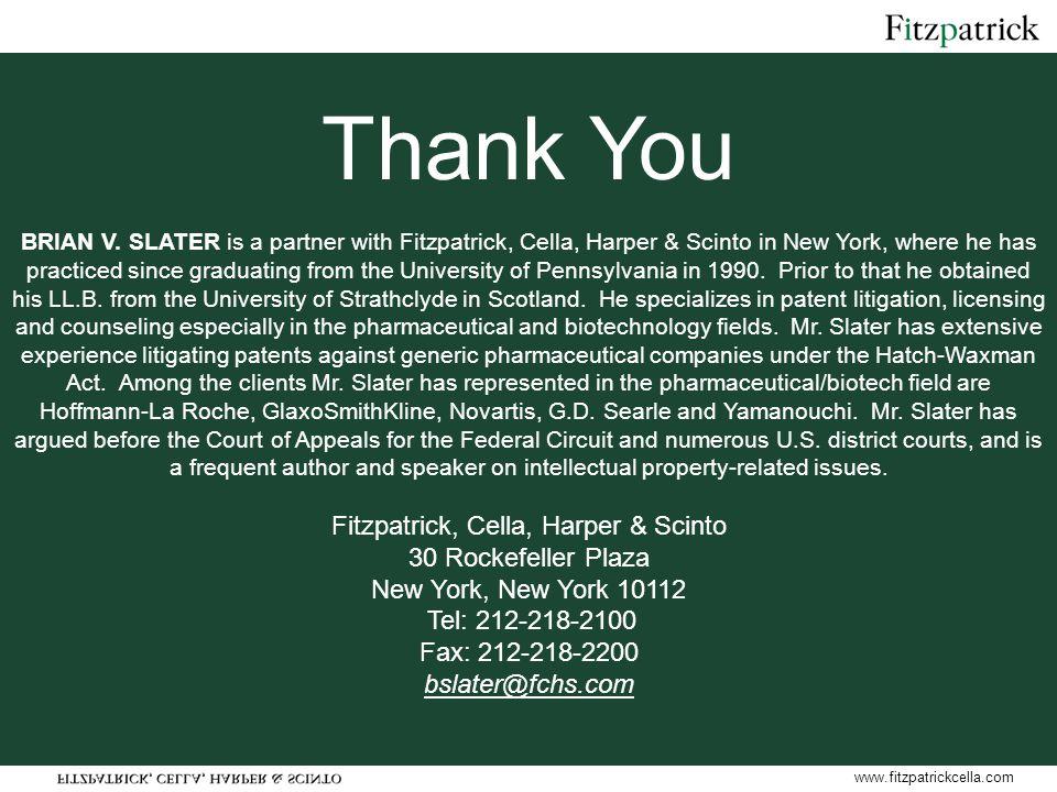 www.fitzpatrickcella.com Thank You BRIAN V.